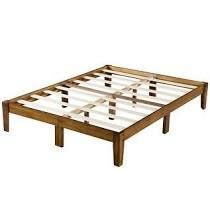 Sleeplanner 14 inch Natural Smart Wood Bed Frame  Full  Retail 178 49