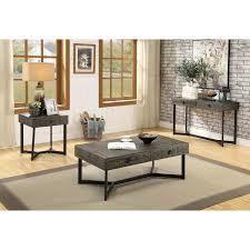Furniture of America Mini Industrial Oak Coffee Table
