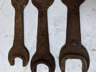 3  Vintage Open ended Wrenches