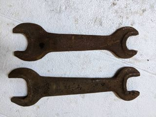 2  Vintage Open ended Wrenches