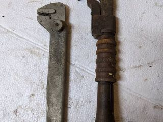 2  Antique Adjustable Wrenches