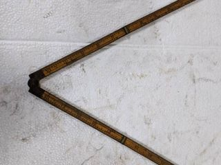 Antique Stanley 24  No  62 Brass Bound Carpenter Rule