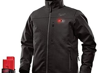 Milwaukee Jacket KIT M12 12V lithium Ion Heated Front and Back Heat Zones All Sizes and Colors   Battery and Charger Included 2X large  Black  Retail   319 95