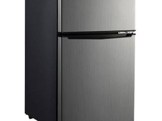Whirlpool 3 1 cu ft  2 Door Compact Refrigerator Freezer Stainless  199 99