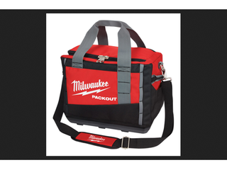 Milwaukee PACKOUT 15 in  W x 12 2 in  H Ballistic Nylon Tool Bag 3 pocket Black Red 1 pc