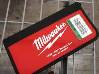 Milwaukee 12pc  3 8  Socket Set Retail   69