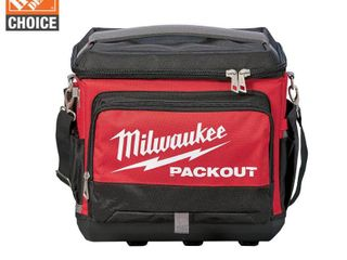 Milwaukee PACKOUT 15 75 in  W x 11 81 in  H Ballistic Nylon Cooler Utility Bag 6 pocket Black Re
