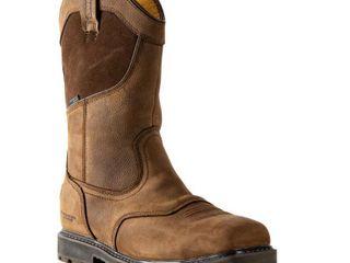 DEWAlT Men s Stanton Waterproof Wellington Work Boots   Steel Toe   Bison Brown Size 9 M  Retail   144 99
