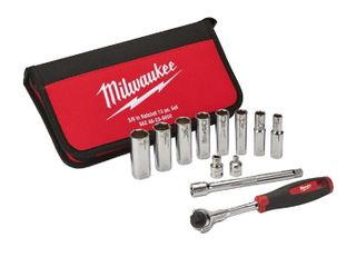 Milwaukee 12pc  3 8  Socket Set Retail   69 99