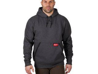 Milwaukee Men s Medium Gray Heavy Duty Cotton Polyester long Sleeve Pullover Hoodie Retail   49 99