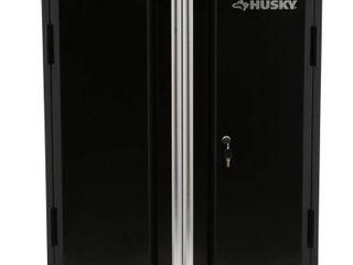 Husky 32 8 in  H x 28 in  W x 18 in  D 2 Door Steel Garage Base Cabinet  Black Retail   219 99