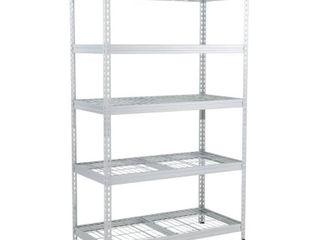 Husky Silver 5 Tier Riveted Steel Garage Storage Shelving Unit  48 in  W x 78 in  H x 24 in  D  galvanized