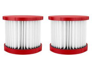 Milwaukee Wet Dry Vacuum Hepa Filter  2 Pack  Red