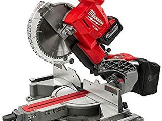 MIlWAUKEE ElECTRIC TOOl 2734 21HD M18 Fuel  Dual Bevel  Sliding  Compound Miter Saw  10  Retail   718 99