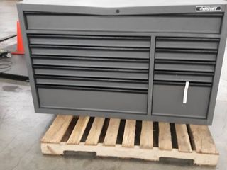 Heavy Duty 56 in  W 18 Drawer Combination Tool Chest and Cabinet Set  Matte Gray Retail   1 098 00 HAS DAMAGE SEE PHOTOS