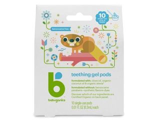Babyganics Teething Gel Pods  10 count