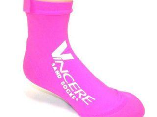 Size Small Sand Socks Classic High Top Neoprene Athletic Socks   Pink
