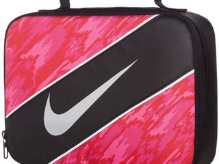Nike Insulated Reflect lunch Box Black Hyper Pink