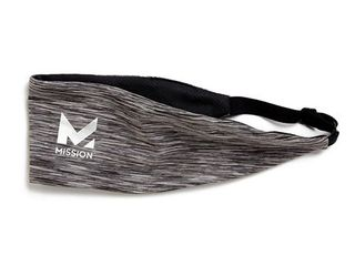 mission vaporactive cooling lockdown headband  charcoal space dye  one size