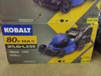 Kobalt 80 Volt Max Brushless lithium Ion Push 21 in Cordless Electric lawn Mower