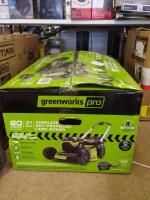 Greenworks Pro Cordless Self Propelled 60V 21  lawnmower with Battery and Charger