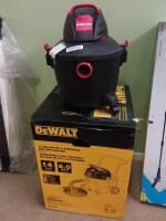 DeWalt 14 Gallon Portable Wet Dry Vac and Shop Vac  Working Conditions Unknown