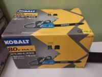 Kobalt 80 Volt Max 18 in Brushless Cordless Electric Chainsaw 5 Ah  Battery Included and Charger Included
