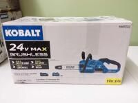 Kobalt 24 Volt 12 in Brushless Cordless Electric Chainsaw 4 Ah  Battery Included and Charger Included