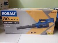 Kobalt 140 MPH Brushless Handheld Cordless Electric leaf Blower 2 5 Ah  Battery Included and Charger Included