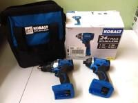 Kobalt 24 Volt Max Variable Speed Brushless Cordless Impact Driver  1 Battery Included  and Drill