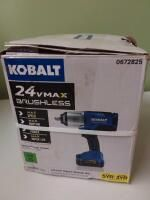 Kobalt 24 Volt Max Variable Speed Brushless Drive Cordless Impact Wrench  1 Battery Included