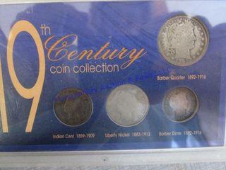 19TH CENTURY COIN SET