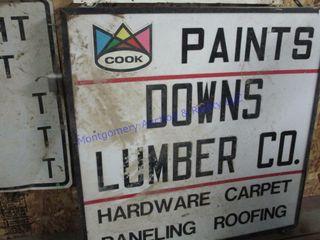COOK PAINTS SIGN