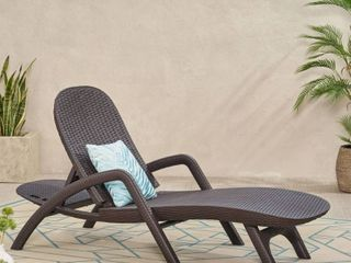 Waverly Outdoor Faux Wicker Chaise lounge by CKH