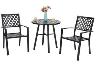 MFSTUDIO Patio Dining Chairs Set of 2