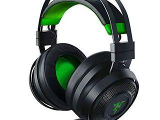 Razer Nari Ultimate for Xbox One Wireless 7 1 Surround Sound Gaming Headset  HyperSense Haptic Feedback   Auto Adjust Headband   Retractable Mic For Xbox One  Xbox Series X   S   Black Green