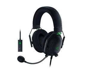 Razer BlackShark V2 Gaming Headset  THX 7 1 Spatial Surround Sound   50mm Drivers   Detachable Mic   PC  PS4  PS5  Switch  Xbox One  Xbox Series X   S  Mobile   3 5 mm Audio Jack   USB DAC   Black