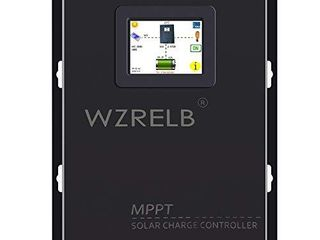 WZRElB New 60A MPPT Solar Charge Controller 12V 24V 48 Auto  18V 36V Manual Max PV 170V lCD Full Touch Screen Design Battery Charger Controller