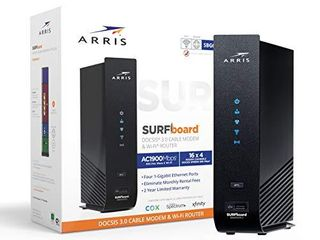 Arris SURFboard  16x4  Docsis 3 0 Cable Modem Plus AC1900 Dual Band Wi Fi Router  Certified for Xfinity  Spectrum  Cox   More  SBG6950AC2 Black