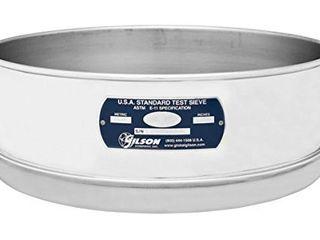 Gilson V12SF  40 Stainless Steel Sieve  40  12  Diameter  Full Height