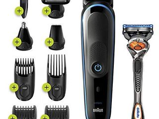 Braun Hair Clippers for Men MGK5280  9 in 1 Beard Trimmer  Ear and Nose Trimmer  Body Groomer  Detail Trimmer  Cordless   Rechargeable  with Gillette ProGlide Razor