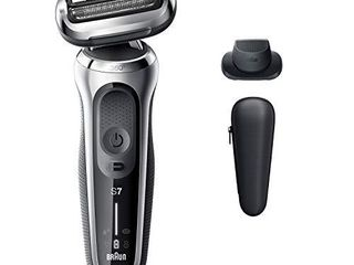 Braun Electric Razor for Men  Series 7 7020s 360 Flex Head Electric Shaver with Precision Trimmer  Rechargeable  Wet   Dry and Travel Case