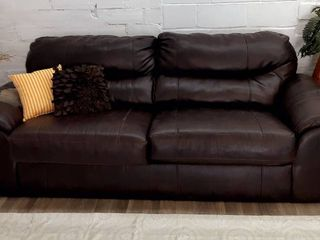 Brown Faux leather Couch