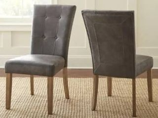 Grey  The Gray Barn Overlook Dining Chairs  Set of 2    40 inches high x 21 inches wide x 29 inches deep  Retail 189 99