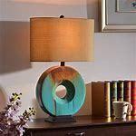 Fenerty 26  3 Way Table lamp   Teal Ceramic Glaze  Retail 144 97