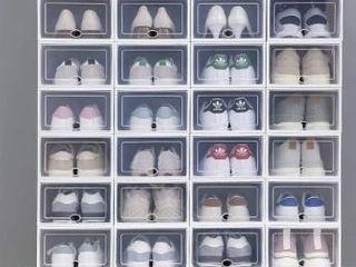 Clear Plastic Stackable Shoe Storage Boxes Shoe Pack  Retail 79 98