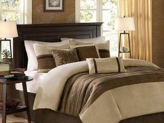 Madison Park Kennedy Natural Comforter Set  Retail 92 49