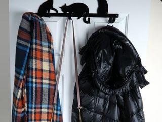 Evelots Over Door Hook Hanger Cat Kitty Coat Towel Purse 4 Iron Hooks 17 Inches