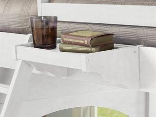 NE Kids lake House White Wood Hanging Nightstand