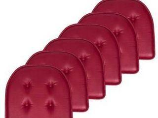 U Shaped Faux leather Memory Foam Chair Pads